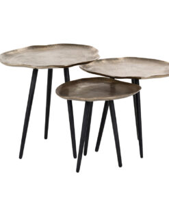 825059 - Coffee table Volenta set of 3 in champagne gold