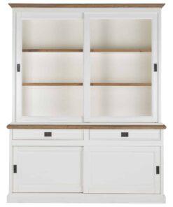836005 OAK - Cabinet Cardiff 2x2-doors 2-drawers + Oak