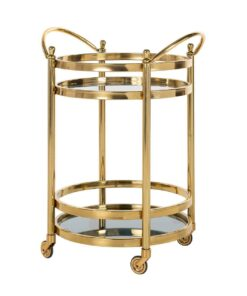 9422 - Trolley Hendricks round gold with glass