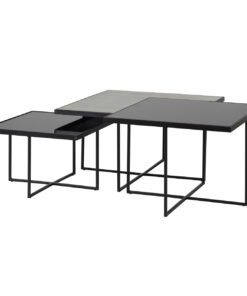 9429 - Coffee table Chester set of 3 square
