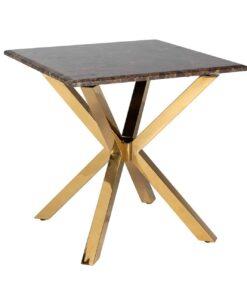 9451 - Corner table Conrad faux brown marble