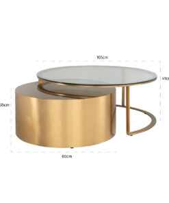 9467 - Coffee table Orlan set of 2