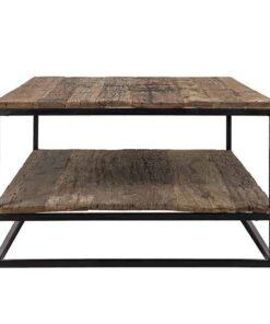 9894 - Coffee table Raffles 1-shelve Recyceld wood