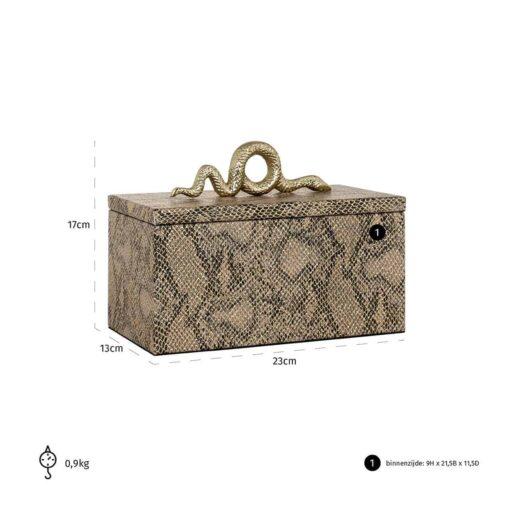 -JB-0003 - Jewellery Box Ruby snake