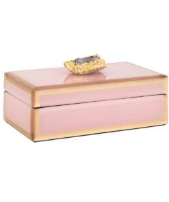 -JB-0012 - Jewellery Box Jaylyn pink/gold