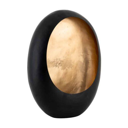 -KA-0111 - Candle holder Roann black with gold medium