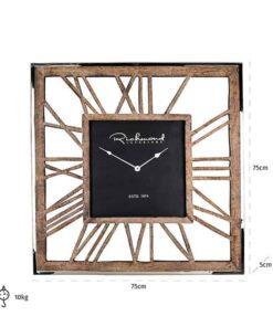 -KK-0034 - Clock Everson metal square
