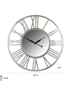 -KK-0062 - Clock Danell round silver