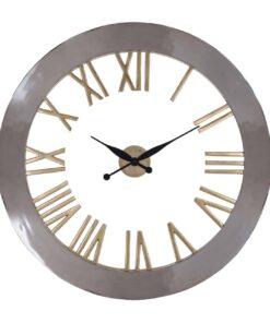 -KK-0067 - Clock Derax round silver/gold