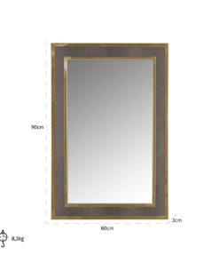 -MI-0045 - Mirror Bara with golden frame