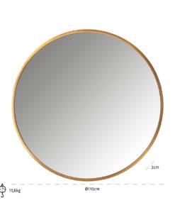 -MI-0048 - Mirror Maevy gold 110Ø