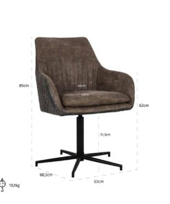 S4408 LEG BLACK - Chair Lucy with black leg swivel