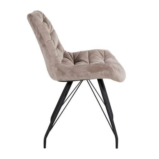 S4414 KHAKI VELVET - Chair Rowan Khaki Velvet
