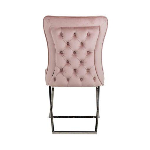 S4415 PINK VELVET - Chair Scarlett Pink velvet / silver