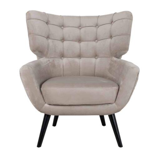 S4417 KHAKI VELVET - Easy Chair Emily Khaki velvet