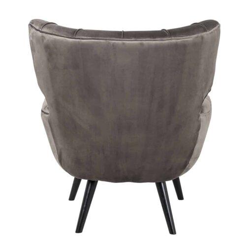 S4417 STONE VELVET - Easy Chair Emily Stone velvet