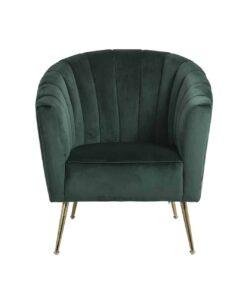 S4419 FR GREEN VELVET - Easy Chair Shelly Green velvet / gold FR