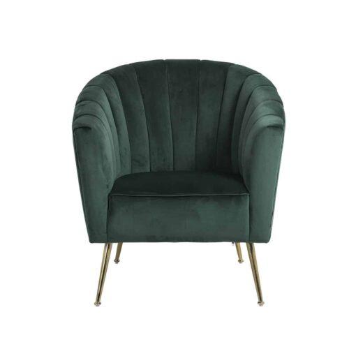S4419 GREEN VELVET - Easy Chair Shelly Green velvet / gold