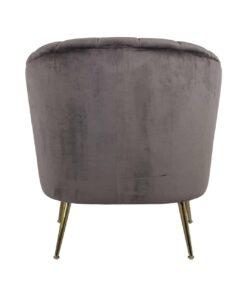 S4419 STONE VELVET - Easy Chair Shelly Stone velvet / gold