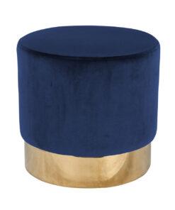 S4427 BLUE VELVET - Pouffe Lilou Blue velvet