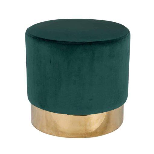 S4427 GREEN VELVET - Pouffe Lilou Green velvet