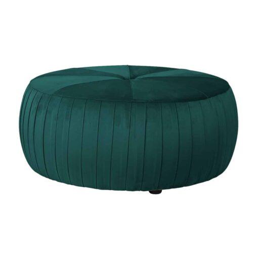 S4429 GREEN VELVET - Pouffe Joya Green velvet