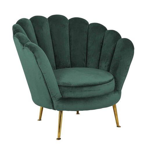 S4439 GREEN VELVET - Easy chair Perla Green Velvet