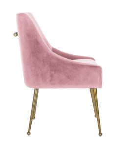 S4440 FR PINK VELVET - Chair Indy Pink velvet / gold Fire Retardant