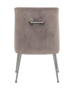 S4440 KHAKI VELVET - Chair Indy Khaki velvet/ silver