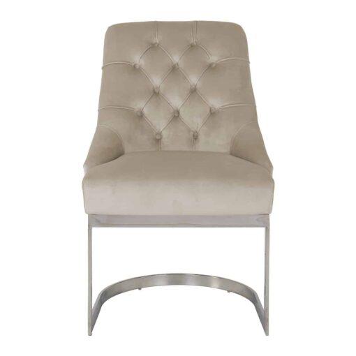 S4441 KHAKI VELVET - Chair Chaya Khaki velvet / silver