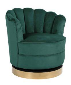 S4442 GREEN VELVET - Swivel chair Mila Green velvet