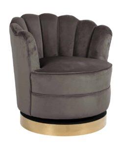 S4442 STONE VELVET - Swivel chair Mila Stone Velvet