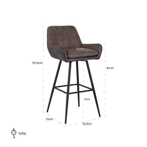 S4444 - Bar stool Linsey swivel