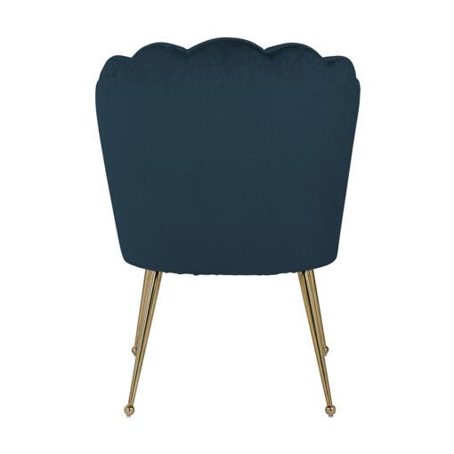 S4445 FR PETROL VELVET - Chair Pippa Petrol velvet / gold Fire Retardant