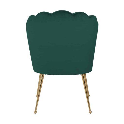 S4445 GREEN VELVET - Chair Pippa Green velvet/ gold