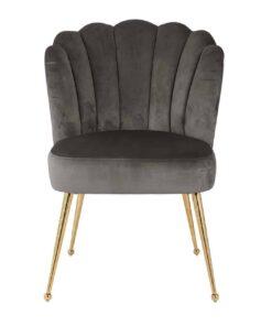 S4445 G STONE VELVET - Chair Pippa Stone velvet / gold
