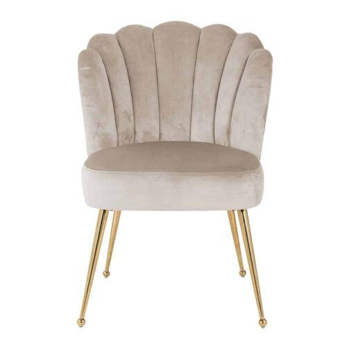 S4445 KHAKI VELVET - Chair Pippa Khaki velvet/ gold