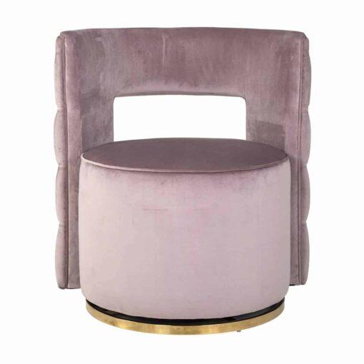 S4446 PINK VELVET - Swivel chair Jamie Pink velvet / gold