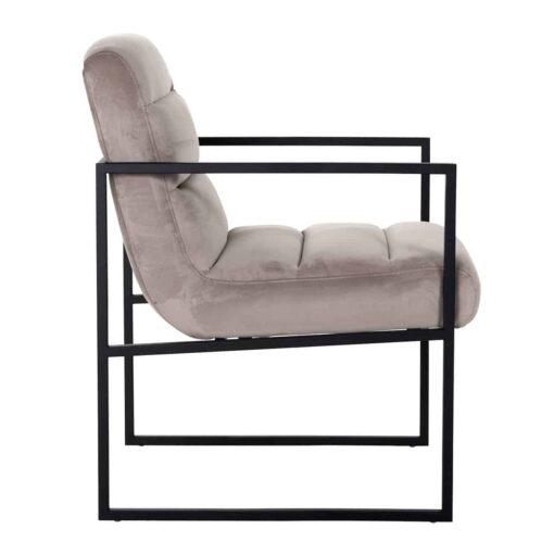 S4451 KHAKI VELVET - Chair Clara Khaki velvet/ black