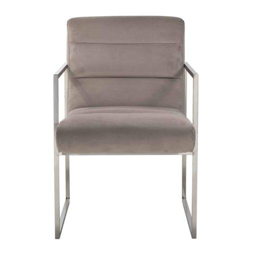 S4452 KHAKI VELVET - Chair Rosa Khaki velvet / Silver