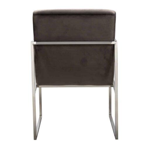 S4452 STONE VELVET - Chair Rosa Stone velvet/ Silver