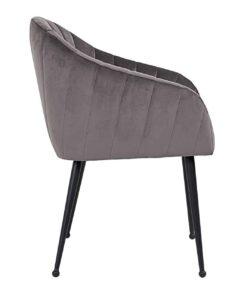 S4453 STONE VELVET - Chair Coco Stone Velvet / black