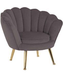 S4458 STONE VELVET - Kids chair Charly Stone velvet / gold
