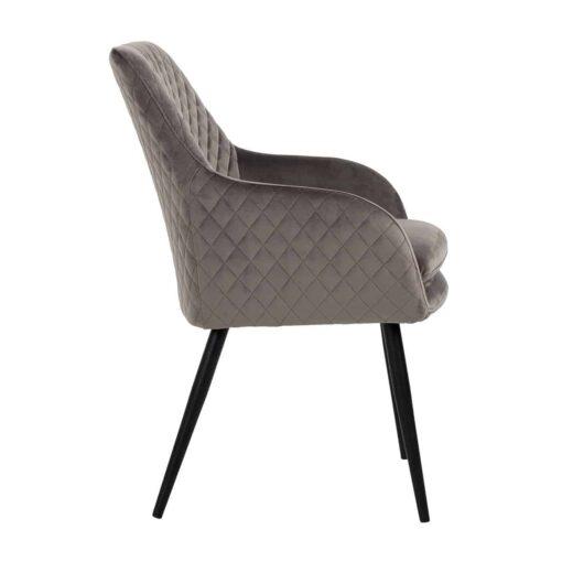 S4461 STONE VELVET - Chair Chrissy Stone Velvet