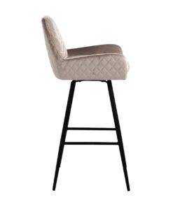 S4462 KHAKI VELVET - Bar stool Linsey swivel Khaki Velvet