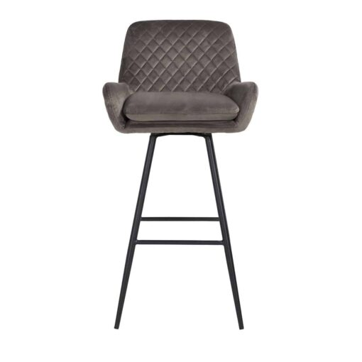 S4462 STONE VELVET - Bar stool Linsey swivel Stone Velvet