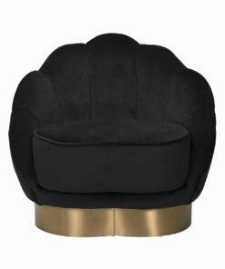 S4473 BLACK VELVET - Easy chair Olivia Black Velvet