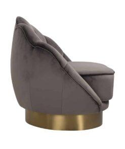S4473 STONE VELVET - Easy chair Olivia Stone Velvet