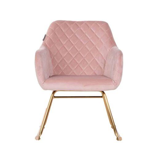 S4474 PINK VELVET - Rocking chair Rocky Pink Velvet