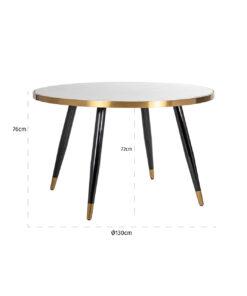 7366 - Dining table Delia 130Ø